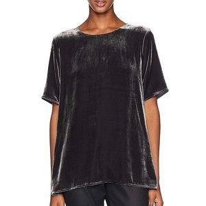 Eileen Fisher Velvet Round Neck Short Sleeve Top